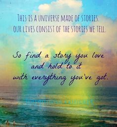 Our lives consist of stories we tell quote via www.Facebook.com/HappinessConvert