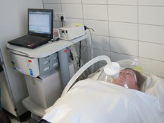 Indirect Calorimetry measurement with canopy hood at German obesity center by cosmednews, via Flickr