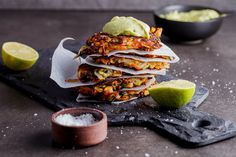 Crispy Vegetable Rösti made with carrots, potatoes, onions, zucchini and parsnips fried until golden and served with silky smooth avocado cream.