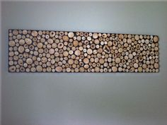 wood slice wall hanging - easier than the entire wall