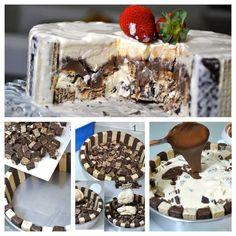Looks very delicious Cooking Ice Cream, Snack Hacks, Tasty Chocolate Cake, Chocolate Bis, Ice Cream Pies, Cream Cake, Sorbets, Cupcakes, Frozen Yogurt