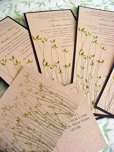 Recycled Wedding Invitation