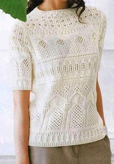 Sweater Knitting Patterns, Lace Knitting, Knit Patterns, Summer Knitting, Knit Fashion, Knitwear, Knit Crochet, Clothes, Yandex Disk
