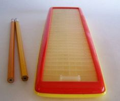 Roll top pencil case.  I loved shopping for school supplies as a kid!