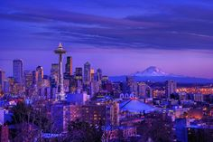 Seattle...not really one of my favorite places since I have lived here my whole life...but gorgeous picture so I had to pin it.