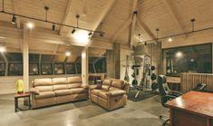 Leonardo-DiCaprio-Malibu-Beach-Home-living-room-gym