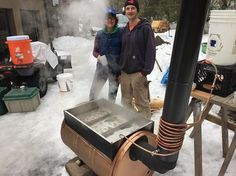 This community-oriented family created an economical backyard evaporator that transforms into a grill for off-season use.  When they decided to sell a few on a whim, they ended up turning their hobby into a business.