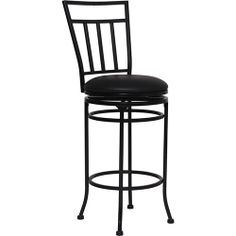 "Flash BS-6228-29-BK-GG - 29"" Black Metal Barstool with Black Leather Swivel Seat | Sale Price: $67.59"