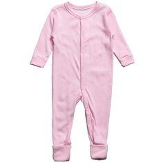 Joha Baby Girls Pink Thermal Merino Wool Romper at Childrensalon.com