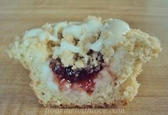 Strawberry & Cream Cheese Coffee Cake Cupcakes by Flour Me With Love