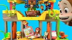 NEW PUP! PAW PATROL MONKEY TEMPLE JUNGLE RESCUE TRACKER COMMAND CENTER PLAYSET…
