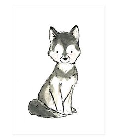 husky drawings cute dog simple drawing animal wolf draw tattoos square dogs tattoo zulily print cat animals sketches giclee trafalgar