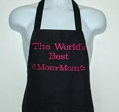 Mom Mom Apron World's Best Personalize With Grans