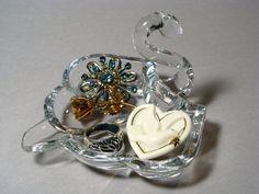 Graceful Swan Glass Dish by TinyandBeautiful on Etsy