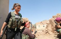 August 28, 2013, Kurdish women in Ras Al-Ayn, liberated Kurdish Syria, battling against U.S. backed Al Qaeda insurgents. Everywhere the U.S. backed rebels have come to power they have imposed anti-woman Sharia (Islamic) law and carried out genocide against Kurds, Christians, Alewites, and Shi'ites.