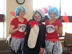 Thing 1 and Thing 2 costumes for Dr.Suess day