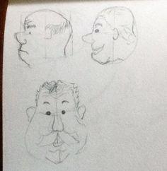 day 24 - three cartoon heads- #cre8365