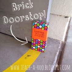 Duct Tape DIY- Fancy Brick Doorstop