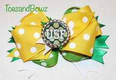 Girl's USF Inspired Hair Bow on Etsy, $10.00