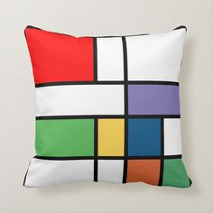 Shop Bright Colorblock Pop Art Throw Pillow created by PillowPretty. Personalize it with photos & text or purchase as is! Pop Art Bedroom, Bedroom Decor, Living Room Light Fixtures, Living Room Lighting, Custom Pillows, Decorative Pillows, Cool Room Designs, Pop Art Design, Modern Design