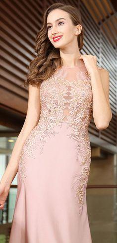 eDressit Pink Lace Beaded Dress