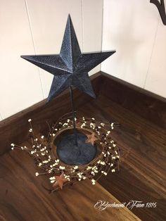 Tin Star on a stick