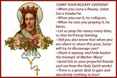 The Rosary is the real weapon. Love you Mama Mary. Rosary Prayer, Praying The Rosary, Holy Rosary, Rosary Catholic, Catholic Prayers, Catholic Religion, Catholic Quotes, Religious Quotes, Jesus Mother