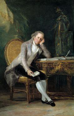 Portrait of Gaspar Melchor de Jovellanos at his desk, 1798 by de Goya. *rococo revisited