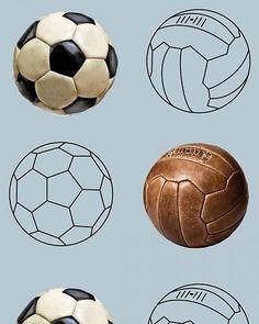 Behang voetbal blauw Kidsroom, Soccer Ball, Sport, Tobias, Illustrator, Lego, Nice, Children, Bedroom Kids