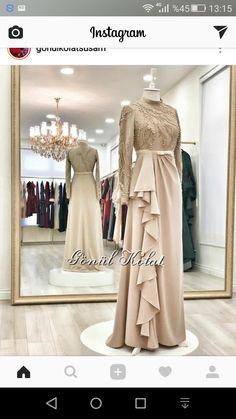 Ideas for dress 2018 casual Hijab Evening Dress, Hijab Dress Party, Hijab Style Dress, Muslimah Wedding Dress, Party Gowns, Dress Brukat, Kebaya Dress, Dress Pesta, Muslim Fashion