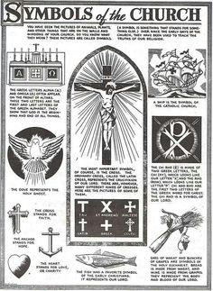 Traditional Catholic Diagrams of the Faith From a Bygone Era Teaching Religion, Religion Catolica, Catholic Religion, Catholic Saints, Orthodox Catholic, Christian Symbols, Christian Faith, Christian Church, Catholic Tattoos