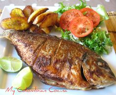 I love this fish recipe. It was one of my parents favourites for a weekend Lunch. It is very easy to make as well as being delicious mixed with some Tilapia Recipes, Fish Recipes, Seafood Recipes, Cooking Recipes, Haitian Food Recipes, Mexican Food Recipes, Easy Healthy Dinners, Easy Healthy Recipes, Fritas Recipe