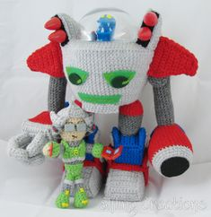 Monster Tale Robot Doll — Crocheted by  Meri Greenleaf (Elfling Creations) #crochet #craft