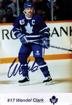 wendel clark | Toronto Maple Leafs | Vintage Autograph Collection