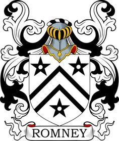 Romney Family Crest and Coat of Arms