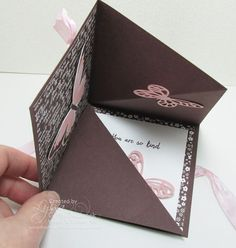 Squash Fold Card - video tutorial--birthdays are getting out of control--may start making cards. :P