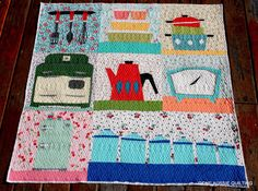 Sew Retro Quilted | Gone Aussie Quilting - a lot of intricate paper piecing