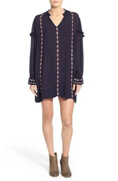 Free shipping and returns on Tularosa 'Arabella' Embellished Tunic Dress at Nordstrom.com. Embroidered vertical stripes and soft fringe accents give this gauzy tunic dress a femme, folkloric vibe that can be layered up or worn solo on sunny days.