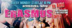 16/06 every Monday Erasmus Party @ Alibi Club
