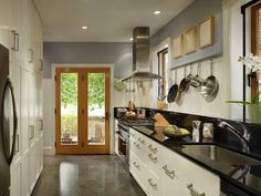 and another galley kitchen! ;)  Galley Kitchen Design Ideas That Excel