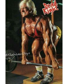 """The Golden Eagle"" Tom Platz doing some DEADLIFTS!While his upper body didn't quite match he still looked REALLY good. But then again nobody complained thatArnold Scwarzenegger's armswere too big!!!Tom have a TRUE iconic personality Intensity builds density!!! #pumpingiron #platz #miamiiron #goldenera #iron #muscleology #miamimecca #muscle #powerlifting #regpark #classicbodybuilding #beast #weightlifting #goldenageofbodybuilding #lifeslyle #lifting #beastmode #bodybuildingmotivation…"