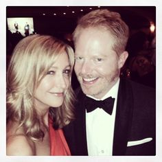 lucky enough to share the #WHCD with seatmates Jesse Tyler Ferguson and Justin Mikita #luckylady #whcd2014