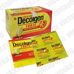 Препарат от простуды и симптомов гриппа DECOLGEN FORTE (Вьетнам) 100 капсул.