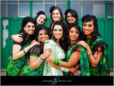 green and black printed saris Shaadi Belles : Search, Save, & Share your South Asian Inspiration Indian Bridesmaids, Wedding Bridesmaids, 10 Year Plan, Black Saree, South Asian Wedding, Hair Studio, Wedding Pictures, Indian Fashion, Wedding Engagement