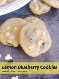 ... Lemon blueberry cookies, Recipes for christmas cookies and Lemon