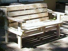 Pallet bench pallet-furniture