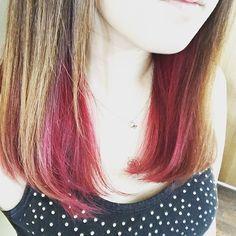 WEBSTA @ m.xoxo.t - 結局髪色戻したやっぱり赤が好き♡#ヘアカラー#レッド#インナーカラー#redhair#innercolor#colorchange#マニパニ