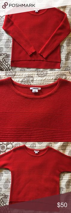 Helmet Lang Pullover Sweater Beautiful Helmut Lang pullover sweater in size P or small. Only worn a few times. Mostly great condition minus a few imperfections in the piling but very small. Retail price is over $200. Helmut Lang Sweaters Crew & Scoop Necks