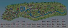 Folge uns auf eine Tour durch den Park Map, Amusement Parks, Tourism, Water, Maps, Peta