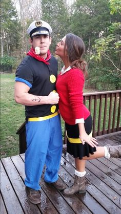 popeye and olive oyl there 39 s always next year halloween costumes pinterest kost m und. Black Bedroom Furniture Sets. Home Design Ideas